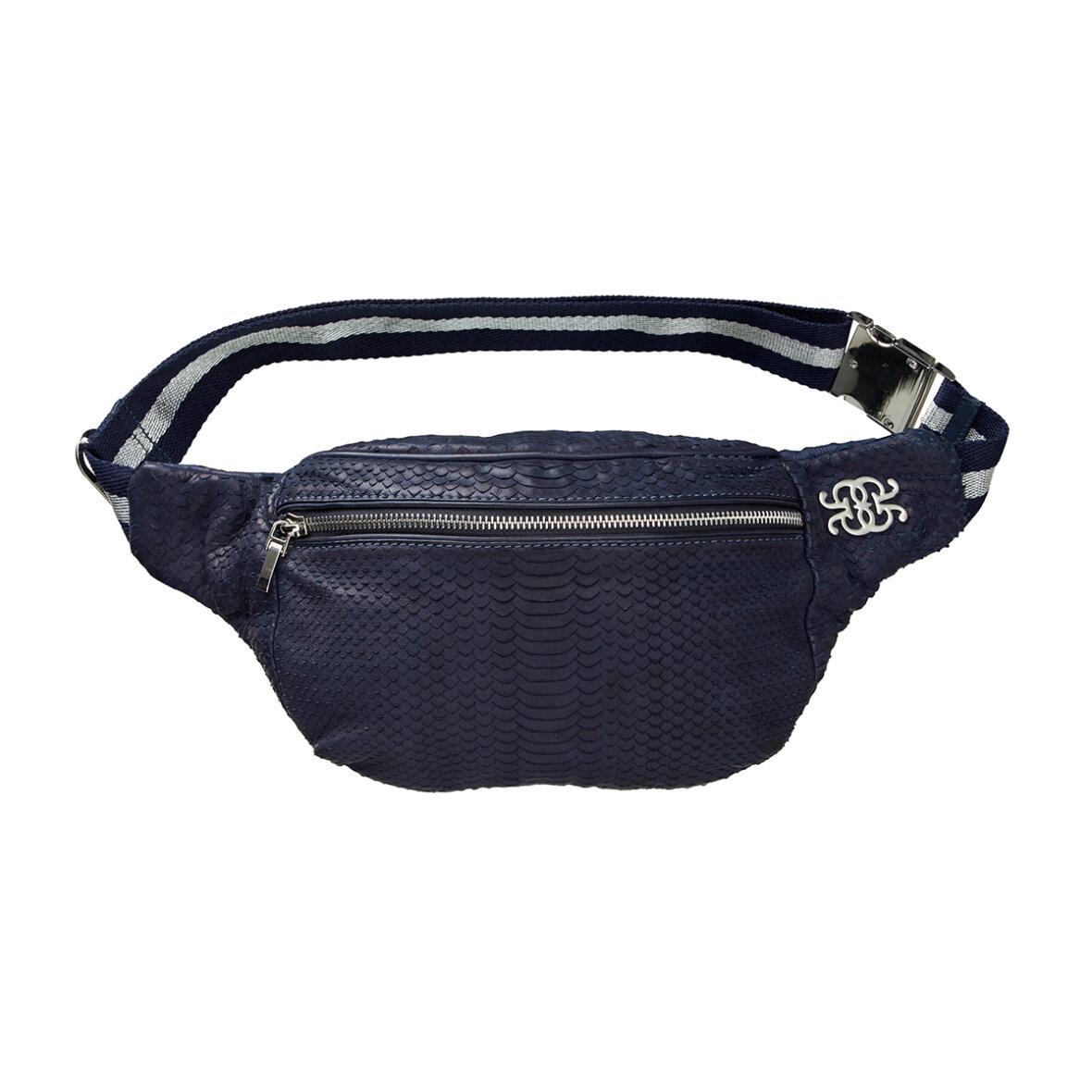 GUSTAV - Skind Bum Bag Blå - Jydepotten.dk - GRATIS FRAGT