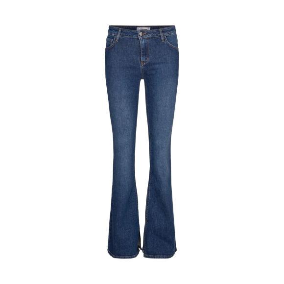 COCOUTURE Denzel Slit Jeans Used Denim Jydepotten.dk