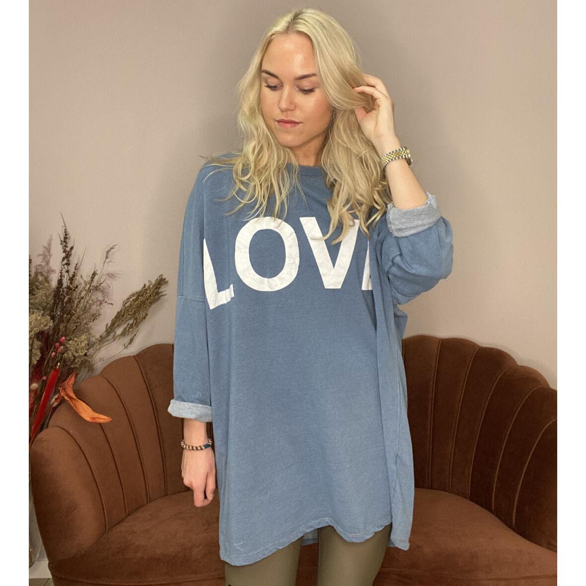 LOVE SOPHY - Sweatshirt Jeans Blue 1098 - Jydepotten.dk