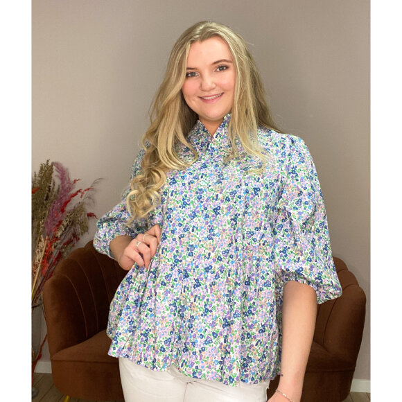 love&divine - Love & Divine Blomstret Skjorte