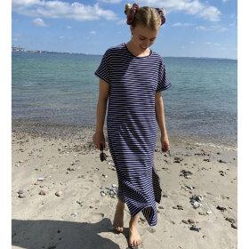 Black Colour Polly Jersey Kjole