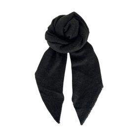 Black Colour Whitney Bouclé tørklæde